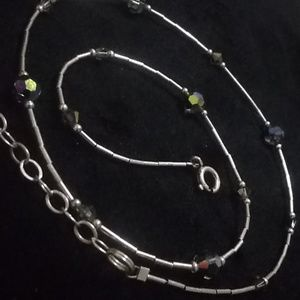 Sterling/Facited bead necklace